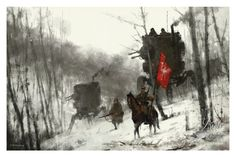"""1920 - Standard Bearer"" by Jakub 'Mr. Werewolf' Rozalski - Limited Edition, Fine Art Print"