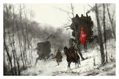 """1920 - Standard Bearer"" by Jakub 'Mr. Werewolf' Rozalski - Limited Edition, Fine Art Print"