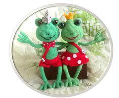 Обсуждение на LiveInternet - Российский Сервис ОнРCrochet Frog, Free Crochet, Knit Crochet, Frog Crafts, Rubrics, Free Pattern, Crochet Patterns, Dolls, Christmas Ornaments