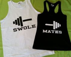 Couples Swole Mates Work Out Partners Gym Shirts, Workout Wifey, Workout ubby Couples Fitness Beauty and Beast Tank Tops, Couples Gym Shirts #Coupleworkout