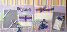 Disney Eeyore Winnie The Pooh Pre Made 12x12 Scrapbook Layout 2PAGES | eBay