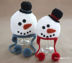 Keep your head cozy this winter with this adorable snowman hat! I have been working hard on this pattern and I hope you enjoy it! But please remember I am a full time mom and I crochet in my spare time. I am sharing this pattern with you for FREE. I originally created these hats …