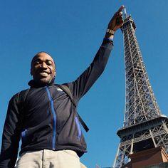 Pure amazement at this structural wonder. Felt good to be back. Shoutout to @mrronclark for the shot - Eiffel Tower Paris France - #RCAtakesEurope // #vsco #VSCOcam #instavsco #igers #igdaily #igaddict #travelnoire #streetetiquette #ronclarkacademy #Paris by kirkandre Eiffel_Tower #France