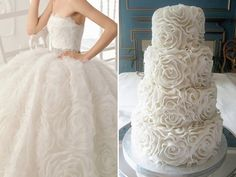 31 Wedding Cakes Inspired by the Bridal Dresses   http://www.deerpearlflowers.com/31-wedding-cakes-inspired-by-the-bridal-dresses/