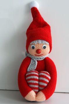 Den søde pottenisse vandt vores store nissekonkurrence - få opskriften her Christmas Knitting, Christmas Cross, Christmas Elf, Christmas Tree Ornaments, Christmas Stockings, Diy Crafts Crochet, Diy And Crafts, Crochet Patterns Amigurumi, Crochet Toys