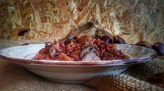 Frittomisto: cucina ed emozioni: Riso rosso con castagne, porcini e salsiccia