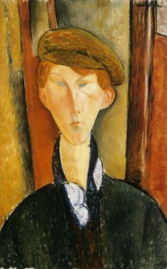 """Amedeo Modigliani, """"Giovane con berretto"""""""