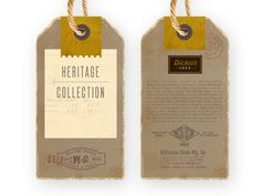 I had the privilege to work with Dickies on some specialty hang tags for their Heritage Collection. Here's one of the ideas.