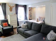 Спальня в квартире-студии: обустройство и зонирование - дизайн интерьера | Фото-Ремонта.ру