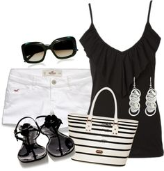 """""""black and white"""" by missyalexandra on Polyvore"""