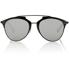 """Dior """"Dior Reflected"""" Sunglasses ($435) ❤ liked on Polyvore featuring accessories, eyewear, sunglasses, multi, mirror glasses, uv protection glasses, logo lens sunglasses, mirrored glasses and mirrored lens sunglasses"""