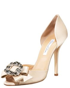 Jewel-Toe d\'Orsay by Oscar de la Renta at Bergdorf Goodman.  I can't afford it but it makes me love being a woman.  ;-)