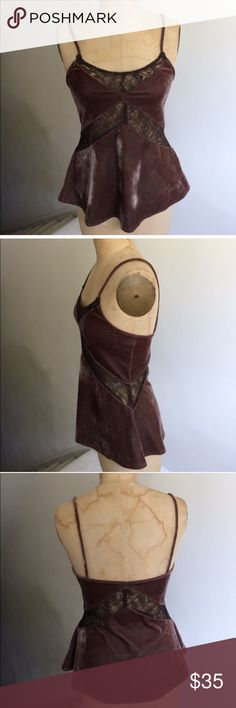 NWT Urban Outfitters velvet and lace tank top Flattering and elegant brand new tank top from Urban Outfitters. Urban Outfitters Tops Tank Tops