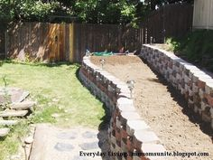 ThanksDIY interlocking block retaining wall with step-by-step instructions awesome pin