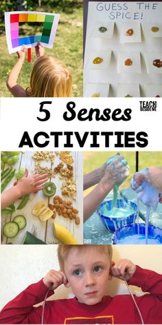 Teach kids about their five senses with these sensory activities for kids! 5 Senses Craft, Five Senses Preschool, 5 Senses Activities, Sensory Activities For Preschoolers, Kindness Activities, Creative Activities For Kids, Educational Activities For Kids, Kindergarten Activities, Toddler Activities