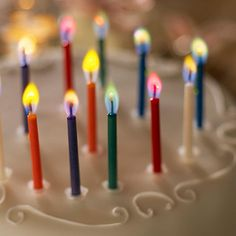 Angel Flames - birthday candles that burn with different color flames