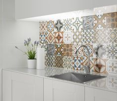 Beldi Moroccan Tiles The Upside, Kitchen Backsplash, Stove, Sink, Kitchen Cook, Vessel Sink, Sink Tops, Stoves, Hearth Pad
