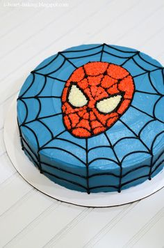 i heart baking!: spiderman birthday cake with great picture tutorial