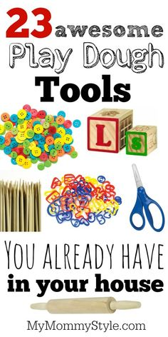 23 awesome play dough tools you already have in your house .
