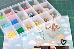 Sometimes you just need to compartmentalize. Creative Options Medium ProLatch Organizer available at Hobby Lobby.