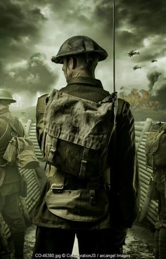 Soldado británico, primera guerra mundial.
