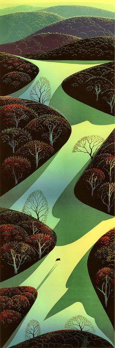 Eyvind Earle Fields Ascending 1991