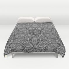 Black and White KaleidoART Duvet Cover by mehrfarbeimleben Mattress, Duvet Covers, Black And White, Bed, Furniture, Home Decor, Decoration Home, Black N White, Stream Bed