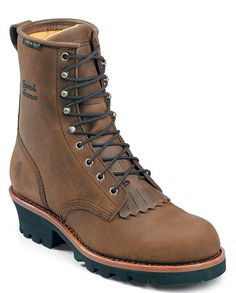 """Chippewa Women's Bay Apache 8"""" Waterproof Insulated Steel Toe Logger Work Boots - Boots and Shoes - Women's"""