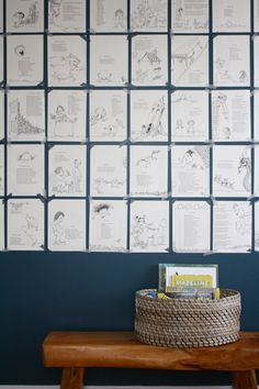 Shel Silverstein book pages in children's room (WOULD FRAME THEM)