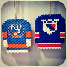 NHL Hockey Jersey Perler Bead Magnet or by PrebreakofdawnCrafts, $6.60