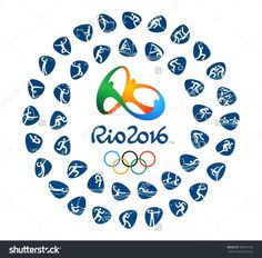 Kiev, Ukraine - March 12, 2016: Logo Of The 2016 Summer Olympic Games With Kinds Of Sport In Rio De Janeiro, Brazil, From August 5 To August 21, 2016, Printed On Paper. Foto d'archivio 389919376 : Shutterstock