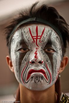 General Xie of Eight Generals by Rich J. Matheson - Taiwanese face painting