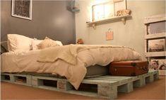 10 DIY Pallet Bed Frames   DIY and Crafts