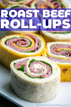 Horseradish Roast Beef Roll Ups | The Starving Chef Blog Roast Beef Roll Ups, Sliced Roast Beef, Healthy Recipes On A Budget, Healthy Dinner Recipes, Chef Recipes, Crockpot Recipes, One Pot Meals, Easy Meals, Chef Blog