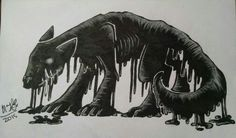 Alien Tar dog by Rainbow Dynasty