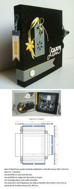 Écrin pour mini-album de 16 x 15 cm maximum - gabarit