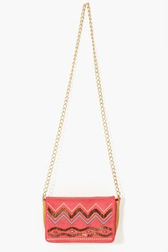 Zig Zag Beaded Bag