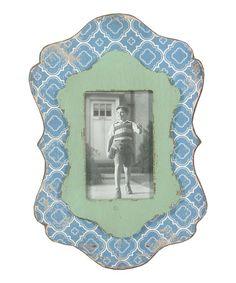 Another great find on #zulily! Blue & Green Wooden Frame #zulilyfinds