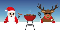 cute santa claus and reindeer with sunglasses at christmas bbq vector illustration - Buy this stock vector and explore similar vectors at Adobe Stock Reindeer, Ronald Mcdonald, Bbq, Vectors, Adobe, Santa, Explore, Templates Free, Sunglasses