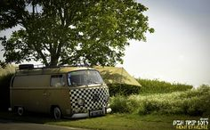 VW bus. Early bay. Holidays.