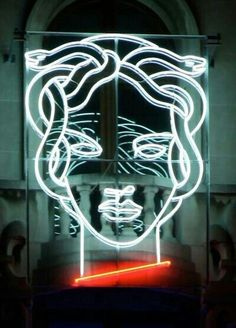 Medusa Neon by artist Anton Ginzburg. This is a depiction of Medusa in modern art. Light Art, Neon Light Signs, Neon Signs, Neon Rosa, Verde Neon, The Wicked The Divine, Neon Words, All Of The Lights, Neon Aesthetic