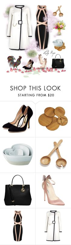 """Easter Dinner"" by papillon-ze-cat ❤ liked on Polyvore featuring Rupert Sanderson, Williams-Sonoma, The Just Slate Company, Sur La Table, MICHAEL Michael Kors, Brian Atwood, Jane Norman and Paule Ka"