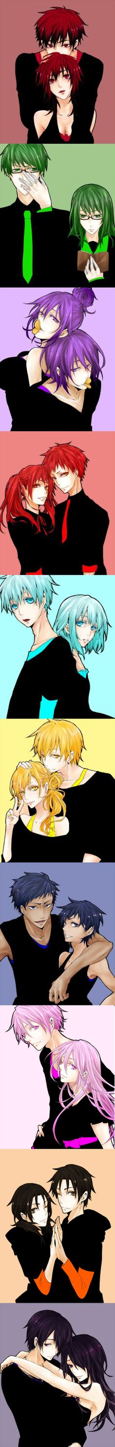 Kuroko no Basket genderbender. This artist is surprisingly accurat