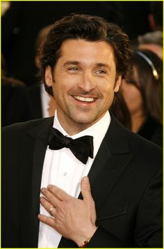 It simply can not get better that Patrick Dempsey and a bow tie! Patrick Dempsey, Perfect People, Pretty People, Celebrity Gossip, Celebrity Crush, Greys Anatomy Cast, Derek Shepherd, Drama, Cinema