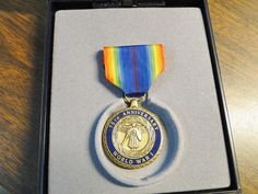 US WWI 75TH Anniversary Medal (1918- 1993) W/ Hard Plastic Case  A Grateful Nation Remembers - They Came On The Wings Of Eagles - Very Nice! by EagleDen on Etsy