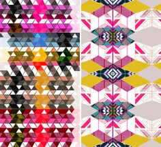 alyson fox - mix of geometric form and hard lines with bright hues