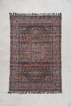 Persian Carpet Art Silk Woven Rug with Hand Printing