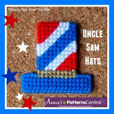 "☆DOWNLOAD TODAY!☆ ""Hats Off to You!"" includes 2 Uncle Sam Hat designs -- and 6 other hats! Check it out at e-PatternsCentral!"