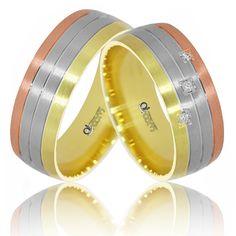Pentru confectionarea perechii de Verighete ATCOM ATC909 se foloseste aur galben-alb-roz. Aur, Nespresso, Coffee Maker, Bangles, Jewelry, Jewlery, Jewels, Drip Coffee Maker, Coffeemaker