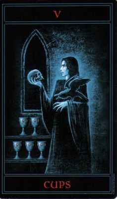 The Gothic Tarot: Five of Cups
